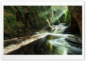 The Devils Pulpit   Finnich Gorge HD Wide Wallpaper for 4K UHD Widescreen desktop & smartphone
