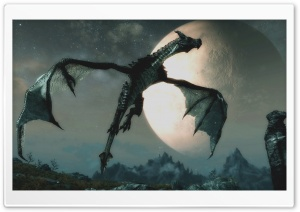 The Dragon and the Moon HD Wide Wallpaper for 4K UHD Widescreen desktop & smartphone