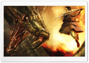 The Dragon Hunter HD Wide Wallpaper for Widescreen