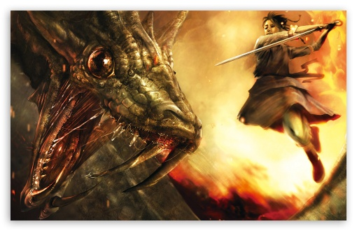 The Dragon Hunter HD wallpaper for Wide 16:10 5:3 Widescreen WHXGA WQXGA WUXGA WXGA WGA ; HD 16:9 High Definition WQHD QWXGA 1080p 900p 720p QHD nHD ; Standard 5:4 3:2 Fullscreen QSXGA SXGA DVGA HVGA HQVGA devices ( Apple PowerBook G4 iPhone 4 3G 3GS iPod Touch ) ; Mobile 5:3 3:2 16:9 5:4 - WGA DVGA HVGA HQVGA devices ( Apple PowerBook G4 iPhone 4 3G 3GS iPod Touch ) WQHD QWXGA 1080p 900p 720p QHD nHD QSXGA SXGA ;