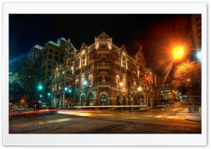 The Driskill Hotel at Night HD Wide Wallpaper for Widescreen