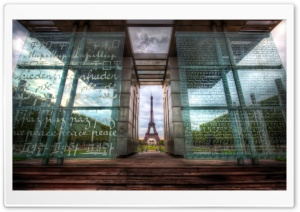 The Eiffel Tower through Art HD Wide Wallpaper for Widescreen