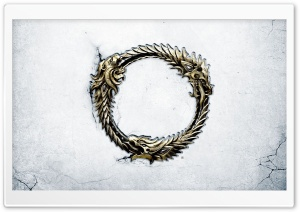 The Elder Scrolls Online Ouroboros Medallion HD Wide Wallpaper for Widescreen