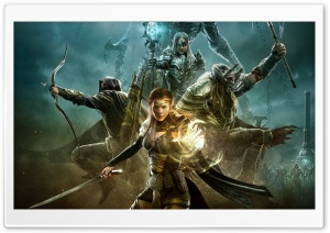 The Elder Scrolls Online Warriors Game Art HD Wide Wallpaper for Widescreen