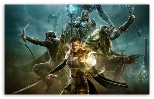 download the elder scrolls online warriors game art hd wallpaper