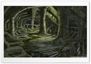 The Elder Scrolls V Skyrim   Nordic Barrow Interior Ruins HD Wide Wallpaper for Widescreen