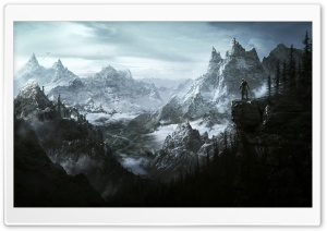 The Elder Scrolls V Skyrim Key Art HD Wide Wallpaper for Widescreen