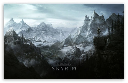 The Elder Scrolls V Skyrim (Video Game) HD wallpaper for Standard 4:3 5:4 Fullscreen UXGA XGA SVGA QSXGA SXGA ; Wide 16:10 5:3 Widescreen WHXGA WQXGA WUXGA WXGA WGA ; HD 16:9 High Definition WQHD QWXGA 1080p 900p 720p QHD nHD ; Other 3:2 DVGA HVGA HQVGA devices ( Apple PowerBook G4 iPhone 4 3G 3GS iPod Touch ) ; Mobile VGA WVGA iPhone iPad PSP Phone - VGA QVGA Smartphone ( PocketPC GPS iPod Zune BlackBerry HTC Samsung LG Nokia Eten Asus ) WVGA WQVGA Smartphone ( HTC Samsung Sony Ericsson LG Vertu MIO ) HVGA Smartphone ( Apple iPhone iPod BlackBerry HTC Samsung Nokia ) Sony PSP Zune HD Zen ;