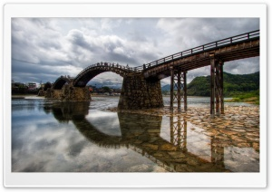 The Elegant Wooden Bridge HD Wide Wallpaper for Widescreen