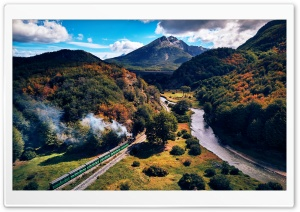 The End of the World Train Journey HD Wide Wallpaper for 4K UHD Widescreen desktop & smartphone