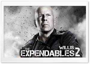 The Expendables 2 - Bruce Willis HD Wide Wallpaper for Widescreen