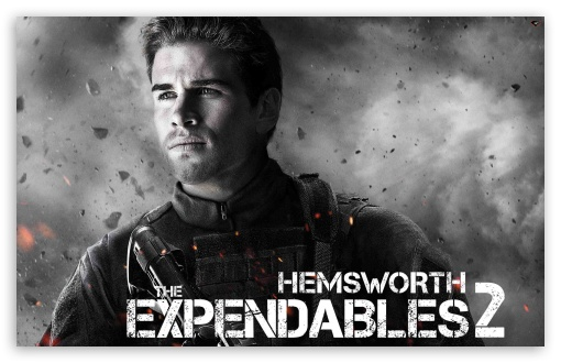 The Expendables 2 - Hemsworth HD wallpaper for Wide 16:10 Widescreen WHXGA WQXGA WUXGA WXGA ; Standard 3:2 Fullscreen DVGA HVGA HQVGA devices ( Apple PowerBook G4 iPhone 4 3G 3GS iPod Touch ) ; Mobile 3:2 - DVGA HVGA HQVGA devices ( Apple PowerBook G4 iPhone 4 3G 3GS iPod Touch ) ;