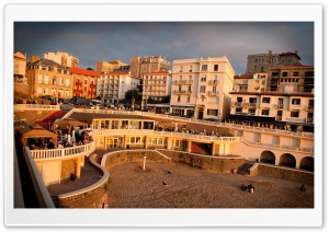 The Famous Biarritz Sunset HD Wide Wallpaper for Widescreen