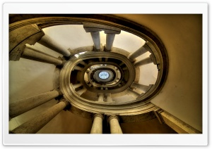 The Famous Helicoidal Staircase by Borromini HD Wide Wallpaper for Widescreen