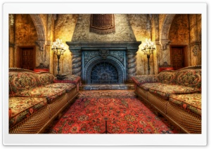 The Fireplace In The Tower Of Terror HD Wide Wallpaper for Widescreen