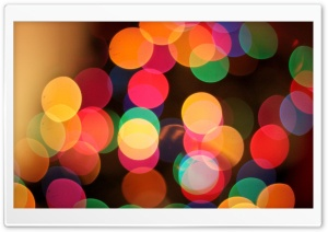 The First Bokeh Of Christmas HD Wide Wallpaper for 4K UHD Widescreen desktop & smartphone