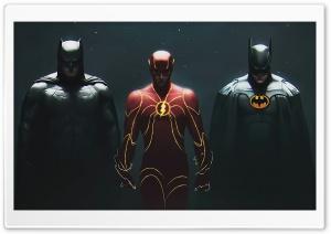 The Flash 2022 Movie, Two Versions of Batman Ultra HD Wallpaper for 4K UHD Widescreen desktop, tablet & smartphone