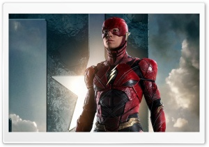 The Flash In Justice League HD Wide Wallpaper for 4K UHD Widescreen desktop & smartphone