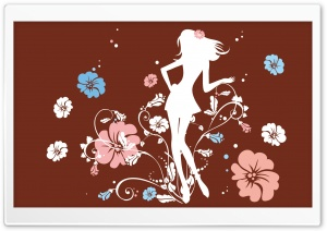 The Flower Girl Brown HD Wide Wallpaper for Widescreen
