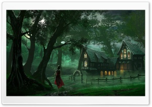 The Forest House HD Wide Wallpaper for 4K UHD Widescreen desktop & smartphone