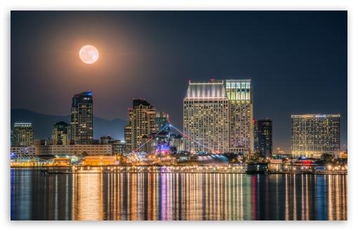 The Full Moon rising over the Downtown San Diego Skyline ❤ 4K UHD Wallpaper for Wide 16:10 5:3 Widescreen WHXGA WQXGA WUXGA WXGA WGA ; 4K UHD 16:9 Ultra High Definition 2160p 1440p 1080p 900p 720p ; UHD 16:9 2160p 1440p 1080p 900p 720p ; Standard 4:3 5:4 3:2 Fullscreen UXGA XGA SVGA QSXGA SXGA DVGA HVGA HQVGA ( Apple PowerBook G4 iPhone 4 3G 3GS iPod Touch ) ; Smartphone 5:3 WGA ; Tablet 1:1 ; iPad 1/2/Mini ; Mobile 4:3 5:3 3:2 16:9 5:4 - UXGA XGA SVGA WGA DVGA HVGA HQVGA ( Apple PowerBook G4 iPhone 4 3G 3GS iPod Touch ) 2160p 1440p 1080p 900p 720p QSXGA SXGA ; Dual 16:10 5:3 16:9 4:3 5:4 WHXGA WQXGA WUXGA WXGA WGA 2160p 1440p 1080p 900p 720p UXGA XGA SVGA QSXGA SXGA ;