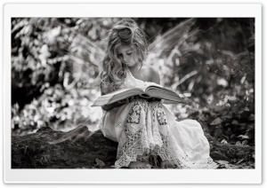 The girl with the Book HD Wide Wallpaper for 4K UHD Widescreen desktop & smartphone