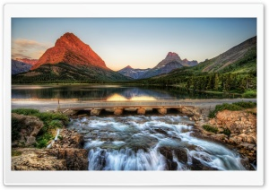 The Glacier National Park At Sunrise HD Wide Wallpaper for 4K UHD Widescreen desktop & smartphone