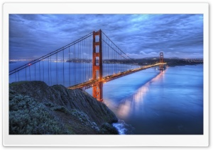 The Golden Gate Bridge At Dusk HD Wide Wallpaper for Widescreen
