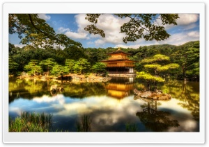 The Golden Pavilion, Kyoto HD Wide Wallpaper for Widescreen