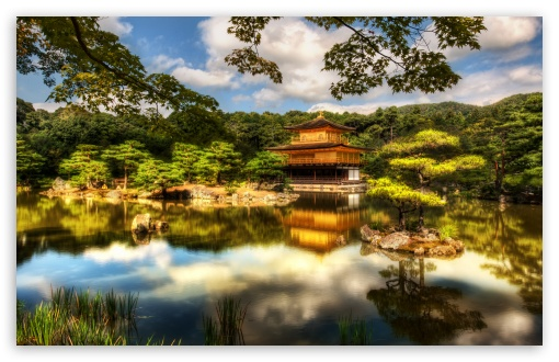 The Golden Pavilion, Kyoto HD wallpaper for Wide 16:10 5:3 Widescreen WHXGA WQXGA WUXGA WXGA WGA ; HD 16:9 High Definition WQHD QWXGA 1080p 900p 720p QHD nHD ; UHD 16:9 WQHD QWXGA 1080p 900p 720p QHD nHD ; Standard 4:3 5:4 Fullscreen UXGA XGA SVGA QSXGA SXGA ; Tablet 1:1 ; iPad 1/2/Mini ; Mobile 4:3 5:3 3:2 16:9 5:4 - UXGA XGA SVGA WGA DVGA HVGA HQVGA devices ( Apple PowerBook G4 iPhone 4 3G 3GS iPod Touch ) WQHD QWXGA 1080p 900p 720p QHD nHD QSXGA SXGA ;