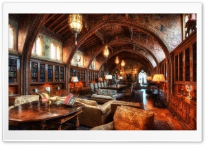 The Gothic Study Of William Randolph Hearst HD Wide Wallpaper for 4K UHD Widescreen desktop & smartphone
