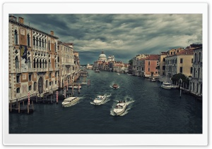 The Grand Canal from Ponte dell Accademia HD Wide Wallpaper for 4K UHD Widescreen desktop & smartphone