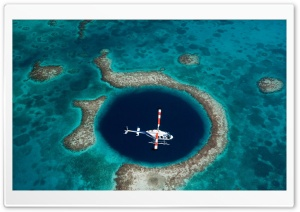 The Great Blue Hole, Belize HD Wide Wallpaper for Widescreen
