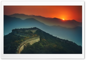 The Great Wall At Sunset HD Wide Wallpaper for 4K UHD Widescreen desktop & smartphone
