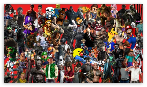 Download THE GREAT WALL OF GAMES UltraHD Wallpaper