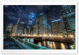 The Heart of the Chicago City HD Wide Wallpaper for Widescreen