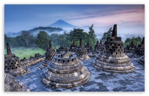 The Hidden Buddhist Temple Of Borobudur At Sunrise, Indonesia HD wallpaper for Wide 16:10 5:3 Widescreen WHXGA WQXGA WUXGA WXGA WGA ; HD 16:9 High Definition WQHD QWXGA 1080p 900p 720p QHD nHD ; Standard 4:3 5:4 3:2 Fullscreen UXGA XGA SVGA QSXGA SXGA DVGA HVGA HQVGA devices ( Apple PowerBook G4 iPhone 4 3G 3GS iPod Touch ) ; iPad 1/2/Mini ; Mobile 4:3 5:3 3:2 16:9 5:4 - UXGA XGA SVGA WGA DVGA HVGA HQVGA devices ( Apple PowerBook G4 iPhone 4 3G 3GS iPod Touch ) WQHD QWXGA 1080p 900p 720p QHD nHD QSXGA SXGA ;