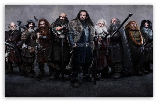 The Hobbit Dwarves HD wallpaper for Wide 16:10 5:3 Widescreen WHXGA WQXGA WUXGA WXGA WGA ; HD 16:9 High Definition WQHD QWXGA 1080p 900p 720p QHD nHD ; Mobile WVGA PSP - WVGA WQVGA Smartphone ( HTC Samsung Sony Ericsson LG Vertu MIO ) Sony PSP Zune HD Zen ;