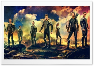 The Hunger Games Catching Fire Cast HD Wide Wallpaper for Widescreen