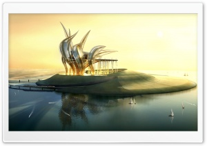The Island 3D HD Wide Wallpaper for Widescreen