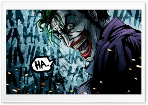 The Joker Illustration HD Wide Wallpaper for Widescreen