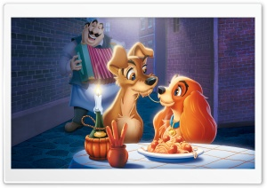 The Lady and The Tramp HD Wide Wallpaper for Widescreen