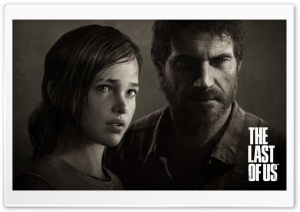 The Last of Us - Joel & Ellie Portrait HD Wide Wallpaper for Widescreen