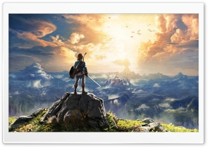 The Legend of Zelda Breath of the Wild Adventure Video Game HD Wide Wallpaper for Widescreen