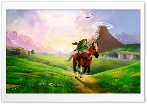 The Legend of Zelda Ocarina of Time 3D HD Wide Wallpaper for Widescreen