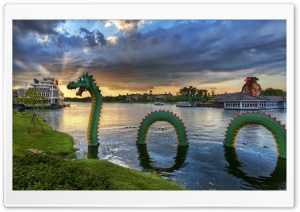 The Lego Dragon Disneyland HD Wide Wallpaper for Widescreen