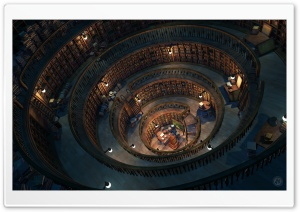 The Library HD Wide Wallpaper for Widescreen