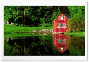 The Little Red Shed HD Wide Wallpaper for Widescreen