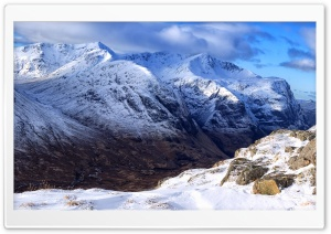 The Lost Valley, Scotland, Mountains, Winter HD Wide Wallpaper for Widescreen