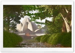 The Lotus Temple Ultra HD Wallpaper for 4K UHD Widescreen desktop, tablet & smartphone